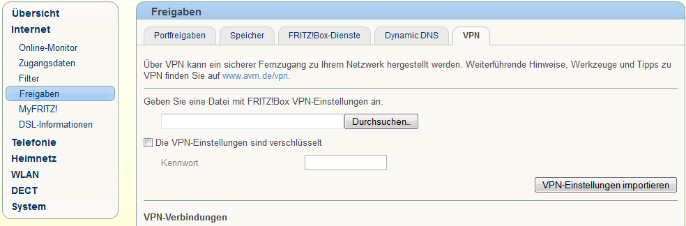 FRITZBox-VPN-Konfig