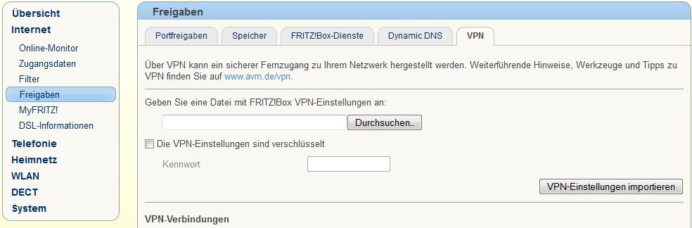 FRITZBox-VPN-Konfig